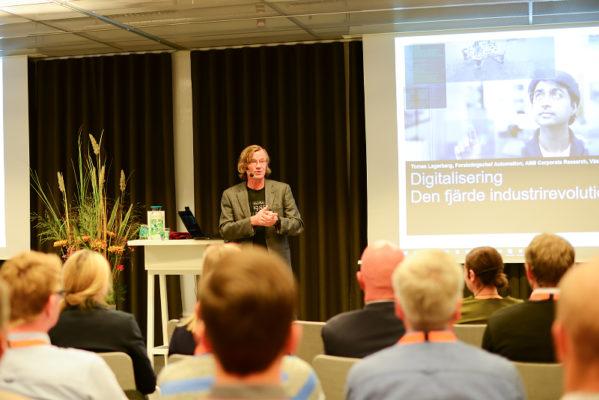 Tomas Lagerberg, chef för Automationsforskning på ABB höll en inspirerande föreläsning.