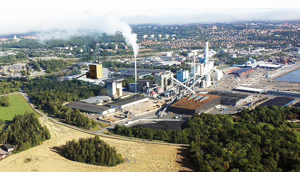 Foto: Scheiwiller Svensson Arkitektkontor AB. Principskiss som visar vart Mälarenergis nya kraftvärmeanläggning - Block 7 är tänkt att placeras.