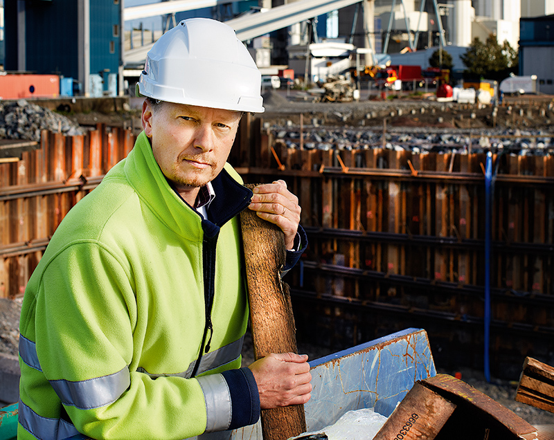Mälarenergis bränslechef vid Kraftvärmeverket.