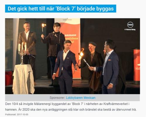 Första spadtaget för Block 7