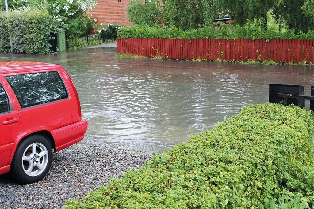 skyfall och 100-års regn. Mälarenergi förbereder sig för översvämningar.