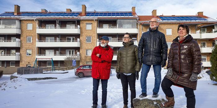 Bostadsrättsföreningen Skogåsen - nöjda med sina solceller.