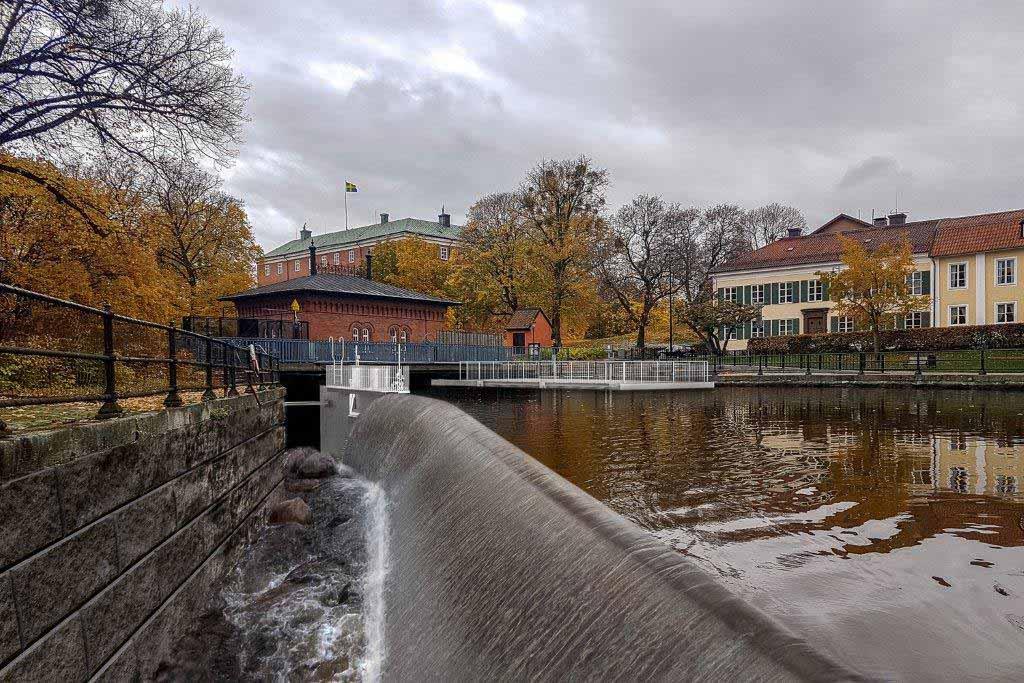 Fiskväg, fiskpassage, faunapassage vid Turbinbron i Västerås.