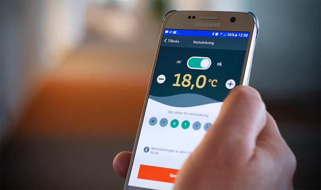 Med Mälarenergis app Klimatkontroll kan du styra ditt inomhusklimat direkt i mobilen. Du kan bl a se din energianvändning och göra nattsänkningar. Fjärrvärmeväxlare Värmeväxlare
