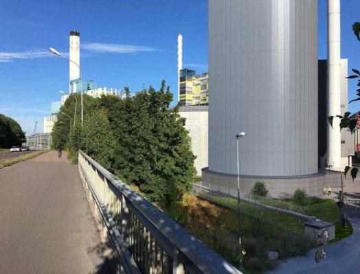 Den nya ackumulatortanken ska jämna ut effektopparna i fjärrvämeproduktionen under vintern.