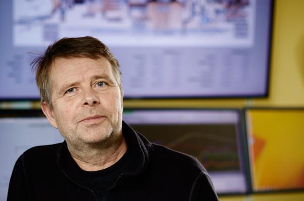 Göran Vikergård är chef på Hässlö Vattenverk och arbetar med systemet Early warning system