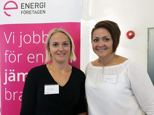 Karolina Swedberg, avdelningschef på Elnäts Marknad & Mättjänster och Ulrica Eliasson, enhetschef på Kraftvärmeverkets konstruktionsavdelning deltar som adepter i årets omgång av Qraftsamling.